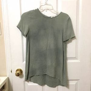 Wilfred Silk Seafoam Green T-Shirt